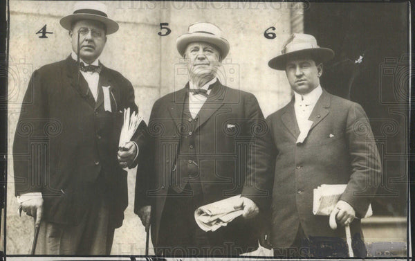 1912 Press Photo of Democrats Hal Denton, Col. John I. Martin and Jay Cairns - Historic Images