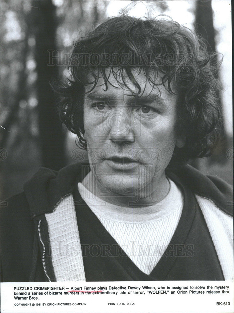 1981 Press Photo Movie Wolfen Albert Finney - Historic Images