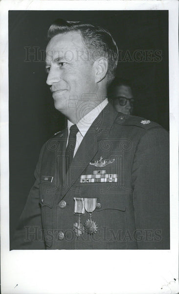 1969 Press Photo Major Maurice Clegg US Military - Historic Images