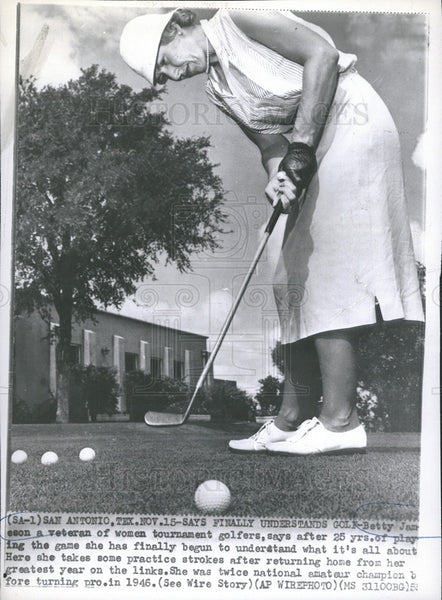 1955 Press Photo Betty Jameson Golfer National Amateur Champion Texas - Historic Images