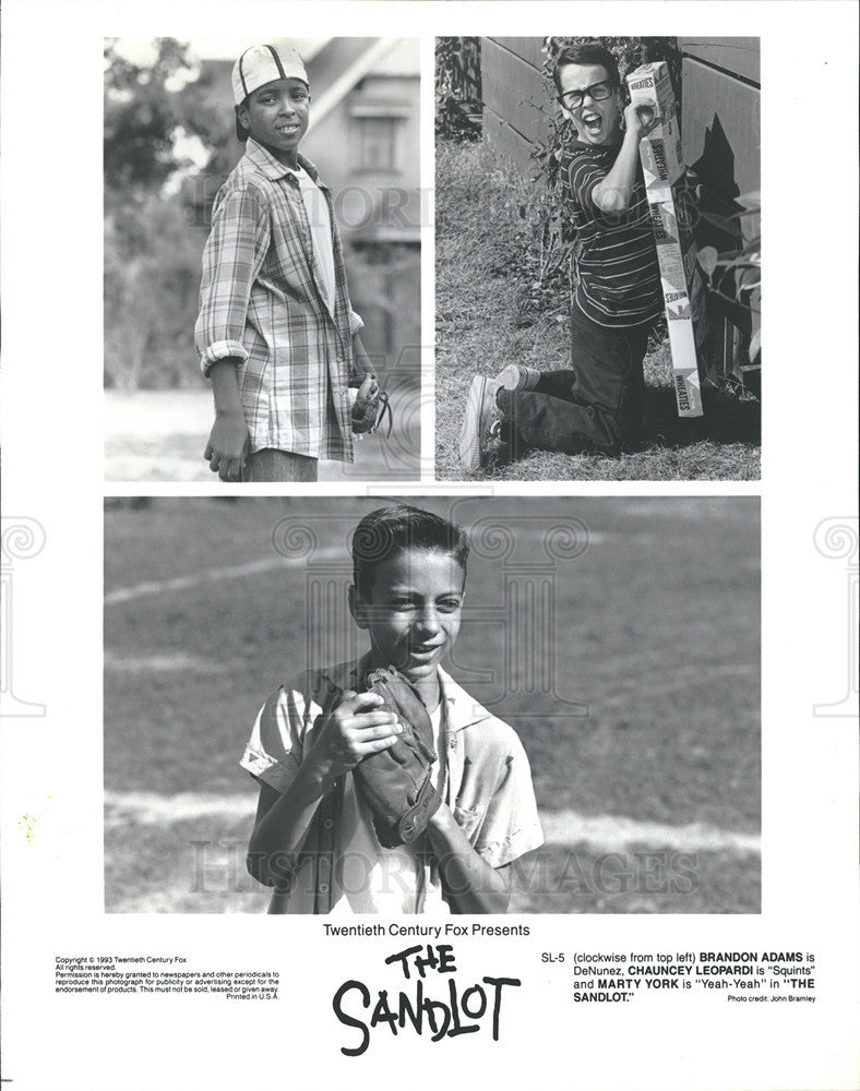 "1996 Press Photo Scenes from ""The Sandlot"" - Historic Images"