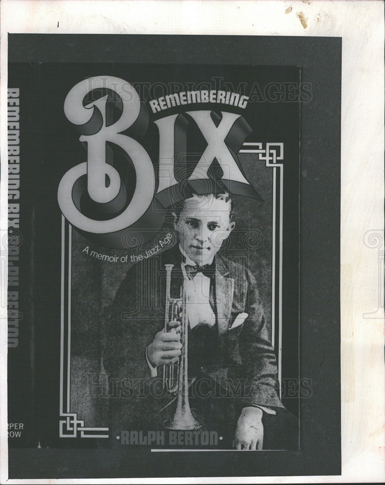 "1974 Press Photo Leon ""Bix"" Beiderbecke Jazz Musician Young Man With A Horn Book - Historic Images"