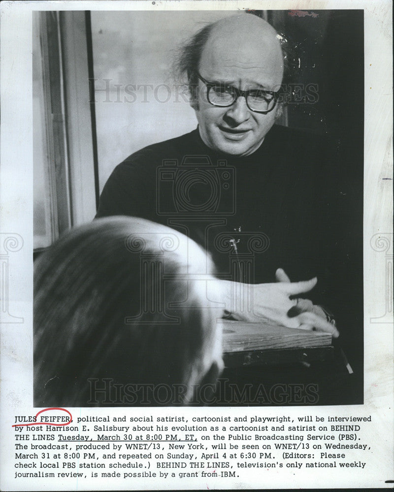 1976 Press Photo jules feiffer playwight - Historic Images
