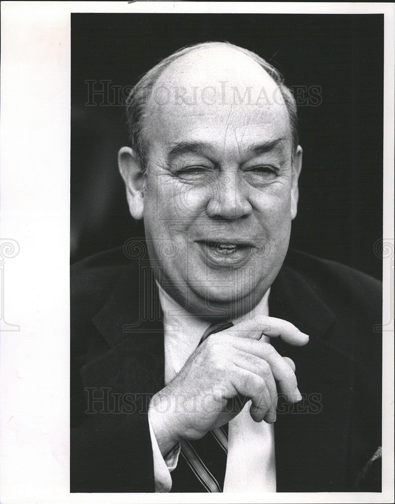 1990 Press Photo Charles Kuralt/Journalist/CBS Evening News Correspondent - Historic Images