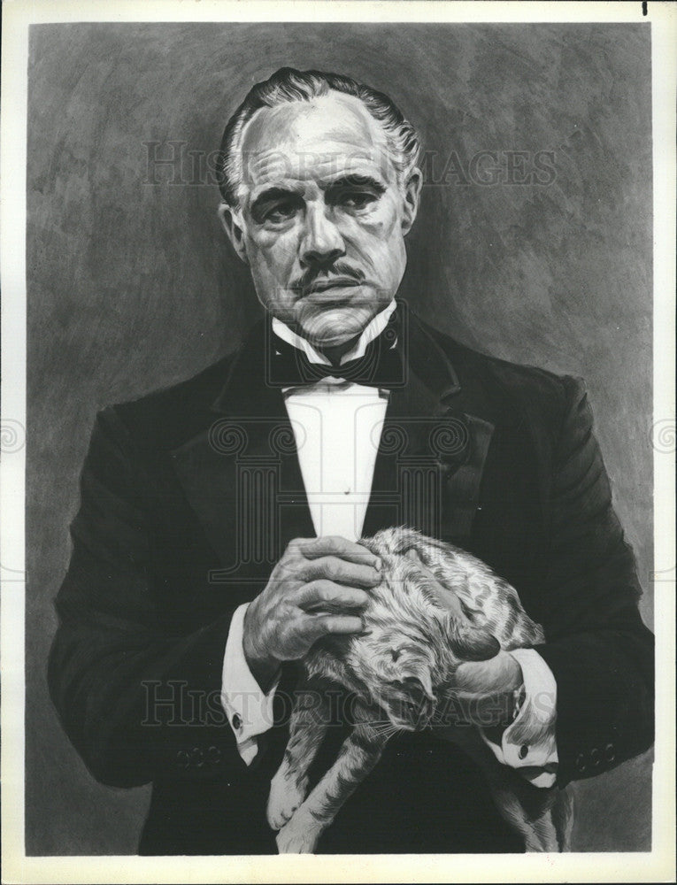 1980 Press Photo Marlon Brando The Godfather - Historic Images