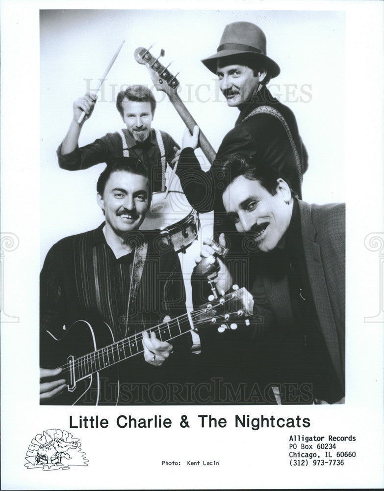 1988 Press Photo Little Charlie & The Nightcats Alligator Records - Historic Images
