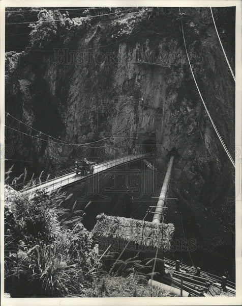 Undated Press Photo Underground bridge Ku-kuan power station Ta-chia valley development - Historic Images