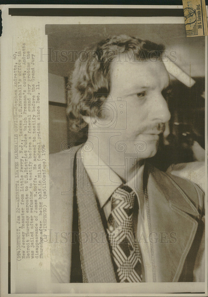 1976 Press Photo Stephen Andretta, New Jersey Teamster - Historic Images