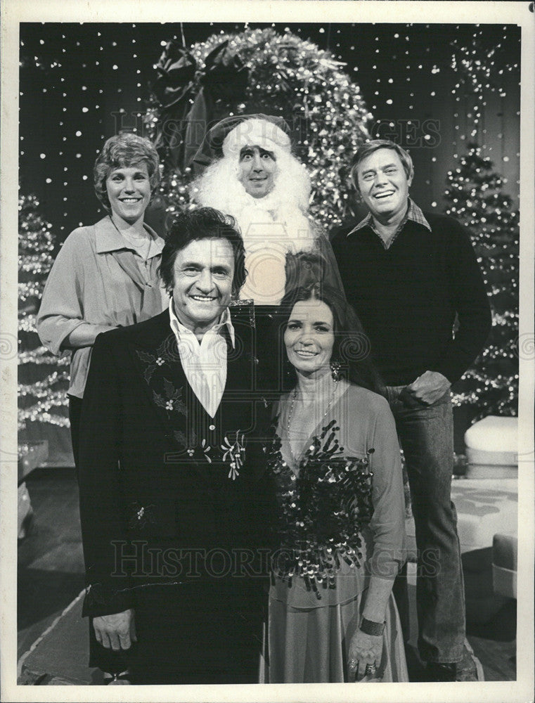 Undated Press Photo Johnny Cash, Andy Kaufman and Others \