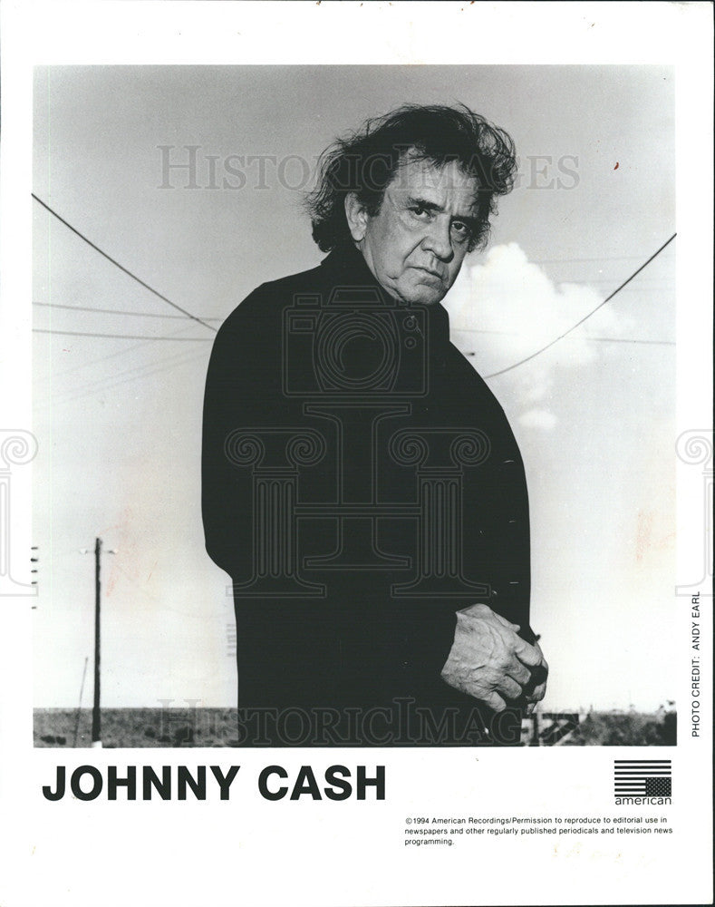 1991 Press Photo American Singer Johnny Cash - Historic Images