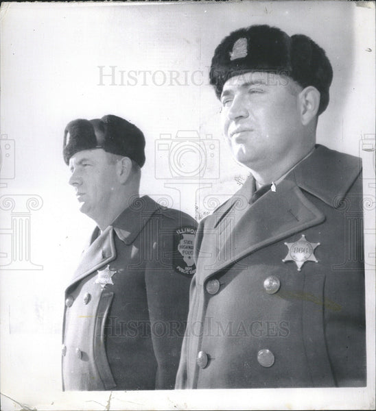 1962 Press Photo Illinois State Troopers Leslie Cunning & Ivan Burnett - Historic Images