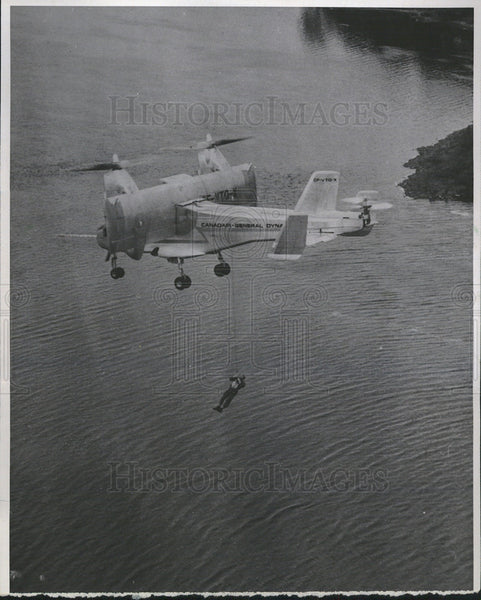 1966 Press Photo CL-84 Tilt wing S/VTO aircraft - Historic Images