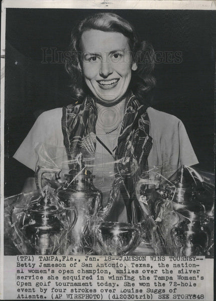 1948 Press Photo Betty Jameson wins Natl women's Open golf - Historic Images