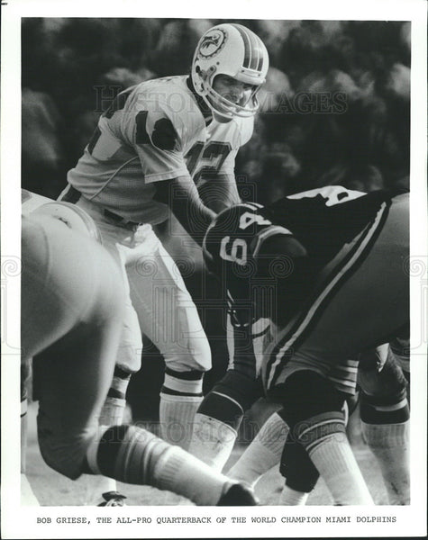 Undated Press Photo Bob Griese,Miami Dolphins,quarterback - Historic Images