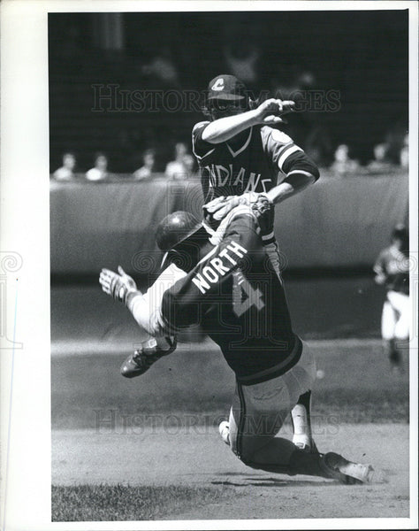 Press Photo Bill North of Oakland Athletics - Historic Images