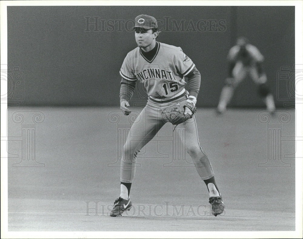 1987 Press Photo Reds jeff treadway - Historic Images