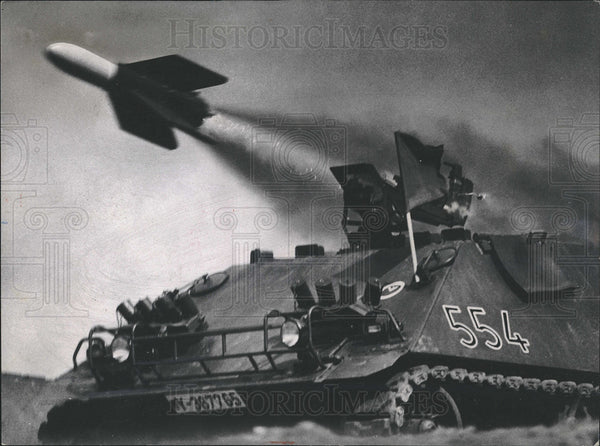 1964 Press Photo An Anti tank rocket being fired - Historic Images