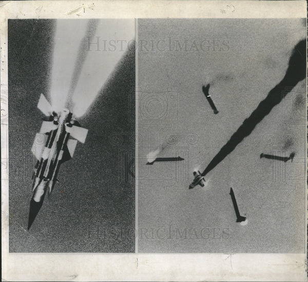 1957 Press Photo British missle tests - Historic Images