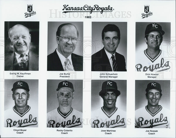 1982 Press Photo Kansas City Royals coaching and management staff. - Historic Images