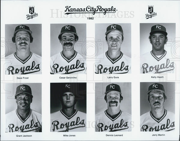 1982 Press Photo Kansas City Royals baseball team. - Historic Images