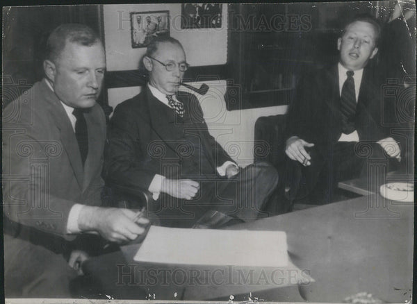 1946 Press Photo Howard French Jr. , William Benswanger and Robert Murphy - Historic Images