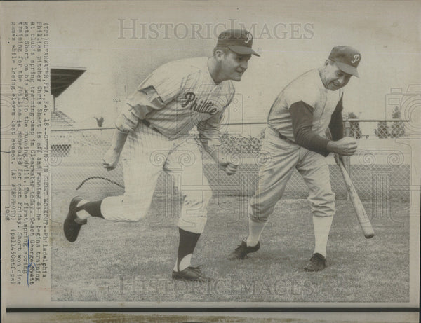 1968 Press Photo Phillies Cheis Short and coach George Myatt - Historic Images