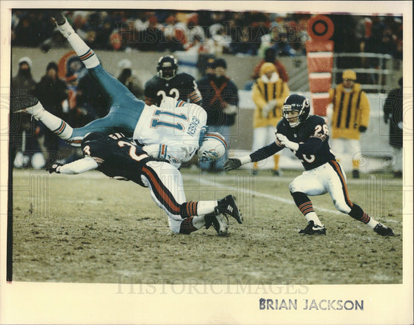 Undated Press Photo Brian Jackson, Chicago Bears. - Historic Images