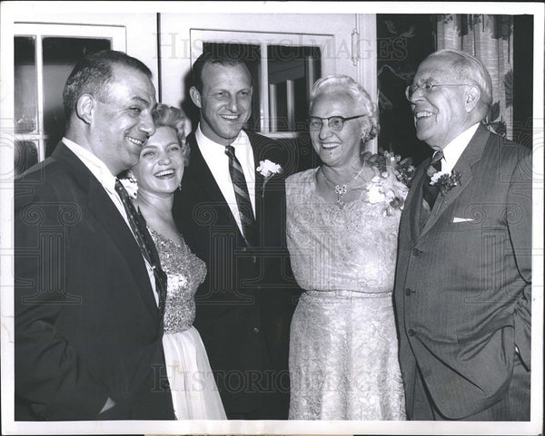 1960 Press Photo Albert Delsandro, Mrs. Stan Musial, Mary Musial, Stan Musial - Historic Images