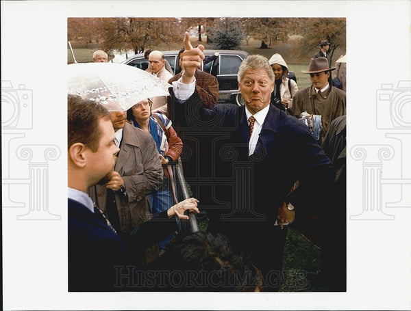 1995 Press Photo Bill Clinton election campaign - Historic Images