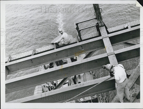 Undated Press Photo Bridge construction underway - Historic Images