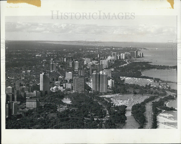 1970 Press Photo View Of Illinois From Top Of John Hancock Center North - Historic Images