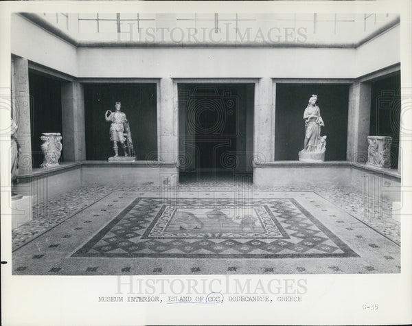 1965 Press Photo Museum Interior Island of Cos Dodecanese, Germany - Historic Images