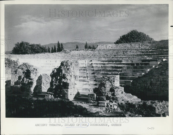 1965 Press Photo Ancient Theatre Island of Cos Dodecanese, Greece - Historic Images