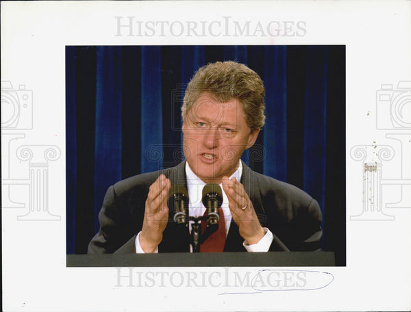 1993 Press Photo President Bill Clinton - Historic Images