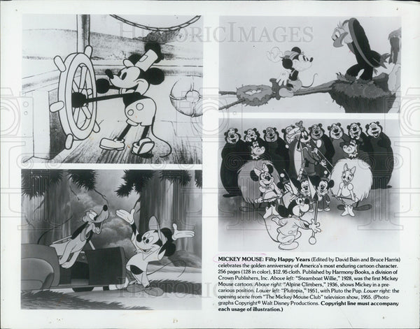1977 Press Photo Mickey Mouse: Fifty Happy Years - Historic Images