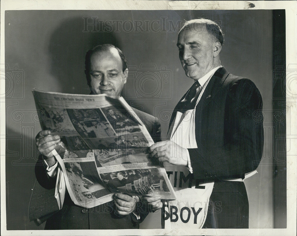 1940 Press Photo Old Time Newsboys Day. - Historic Images