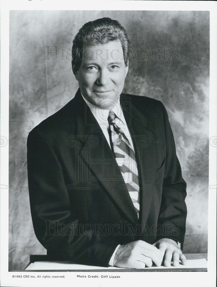 1993 Press Photo Copy William Shatner In Suit Grinning - Historic Images