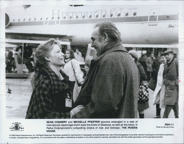 1990 Press Photo Sean Connery Actor Michelle Pfeiffer Actress Russia House Movie - Historic Images
