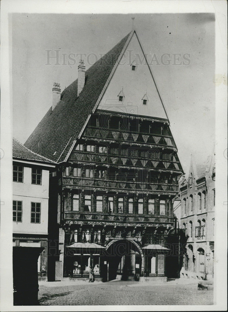 1929 Press Photo Butchers Guild House in Hildesheim,Germany - Historic Images