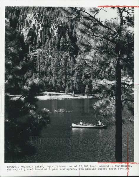 1978 Press Photo new Mexico Tranquil Mountain Lakes - Historic Images
