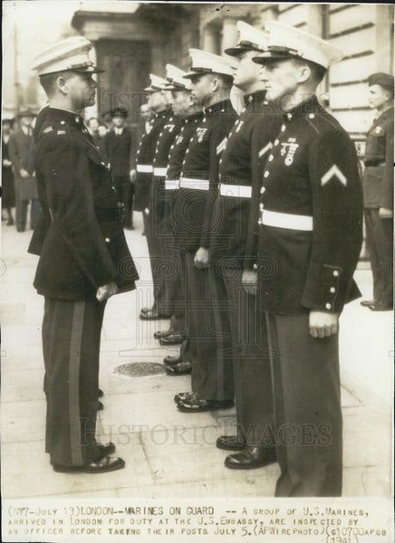1941 Press Photo United States Marines London - Historic Images