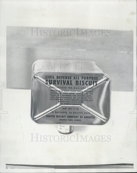 1979 Press Photo Survival Biscuit for Fallout Shelters - Historic Images