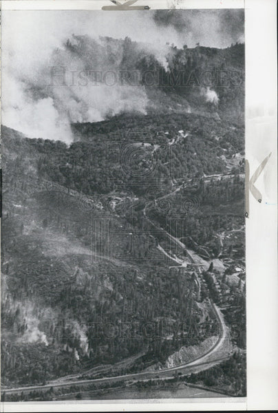 1965 Press Photo Forest Fire Northern California - Historic Images
