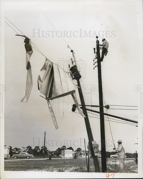 1958 Press Photo Trailer Estates Utilities Service - Historic Images