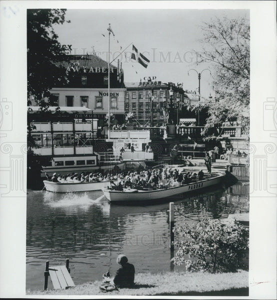 1973 Press Photo Tourist Boats, Gothenburg Canals, Gota Canal, Sweden - Historic Images