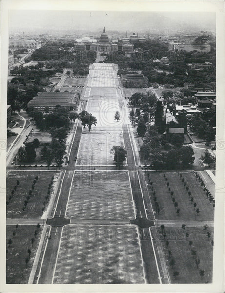 1936 Press Photo Aerial photo of Washington, D.C. - Historic Images