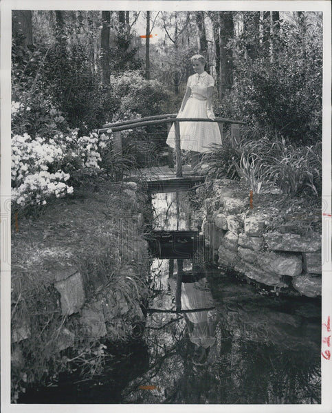 1958 Press Photo North Carolina spring garden. - Historic Images