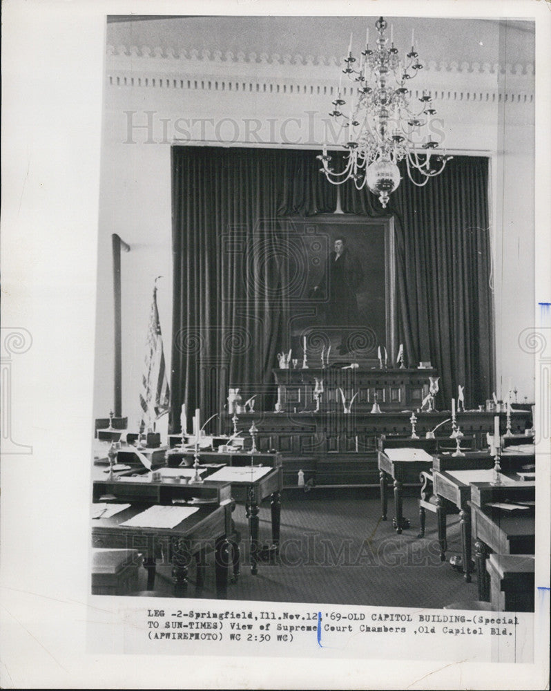 1969 Press Photo of the interior of the old capitol building in Springfield, IL - Historic Images