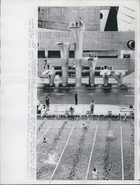 1964 Press Photo Summer Olympics, Tokyo, Japan - Historic Images