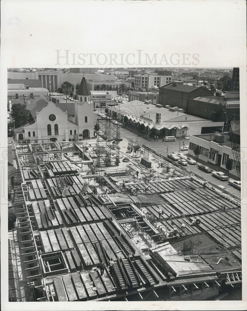 1965 Press Photo Tampa downtown new parking garage - Historic Images